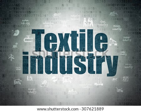 Manufacuring concept: Textile Industry on Digital Paper background