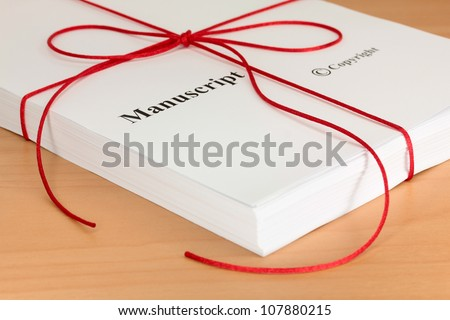 Manuscript from Author ready for Proofreading - stock photo