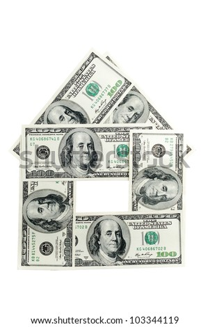 many american dollars , similar to the building - stock photo