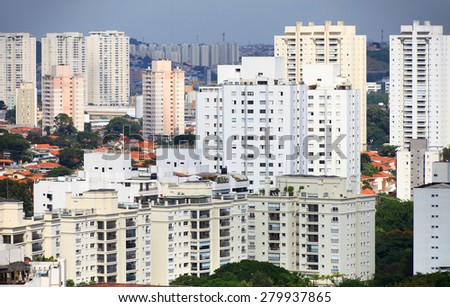 Many apartment homes in Sao Paulo, Brazil - stock photo
