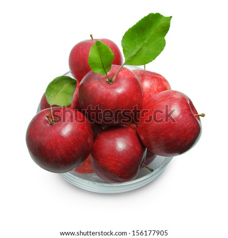 Many apples isolated