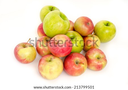 many apples isolated on white background