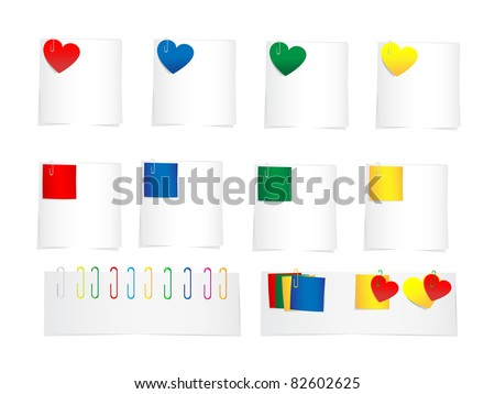 Many bright colorful sticker isolated on white background, JPG-version - stock photo