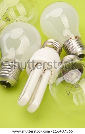 Many bulbs - stock photo