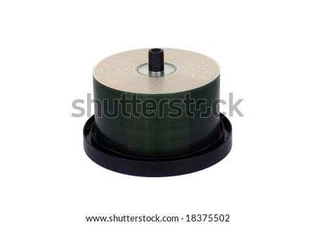 many cd isolated in its case on white - stock photo