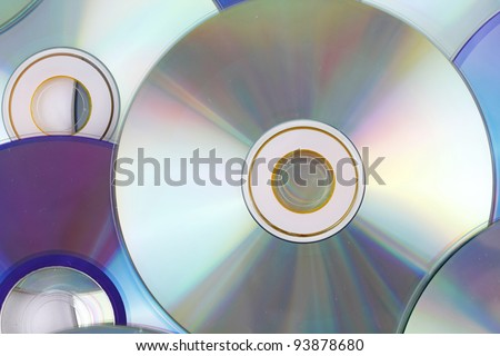 Many CD's as a background