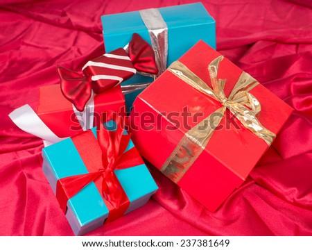 many Christmas Gifts / Christmas - stock photo