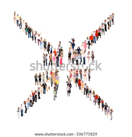 Many Colleagues Corporate Teamwork  - stock photo