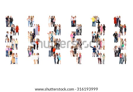 Many Colleagues People Diversity  - stock photo
