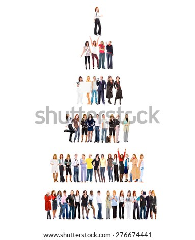 Many Colleagues United Company  - stock photo