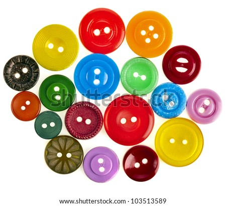 many color buttons - stock photo