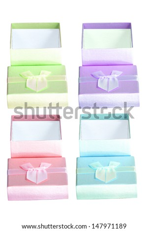 Many color gift box.