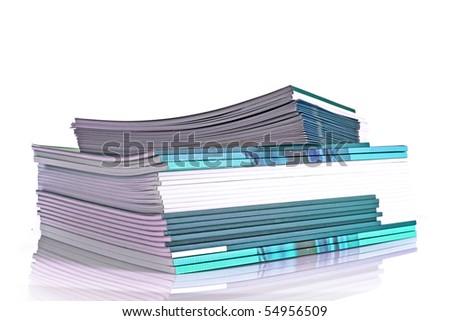 Many color magazines - stock photo