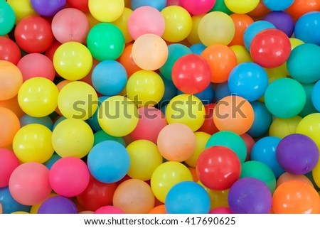 Many color plastic balls for background
