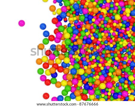 Many colored balls abstract background with place for your text - stock photo