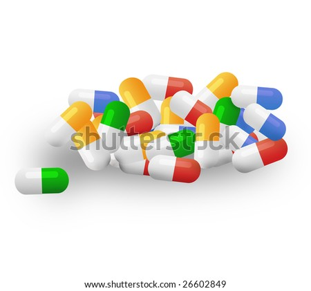 many colored tablets