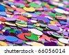 Many colorful confetti close up - stock photo