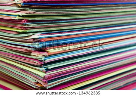 Many colorful Files