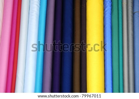 many colorful pants on the hanger