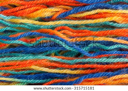 Many colorful yarns - stock photo