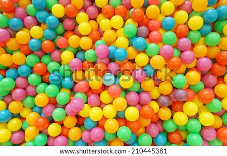 Many colour plastic balls for background - stock photo