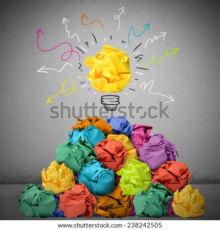 Many concepts can give a great idea - stock photo