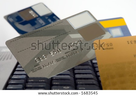 many credit cards - stock photo
