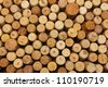 many different wine corks - stock photo