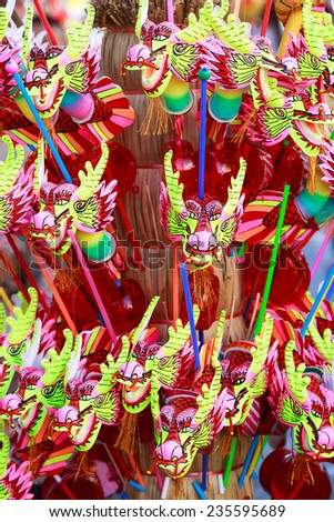 Many dragon toy for children - stock photo
