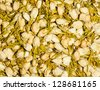 many dry buds of jasmine flower  for tea - stock photo