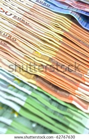 Many Euro Money - stock photo