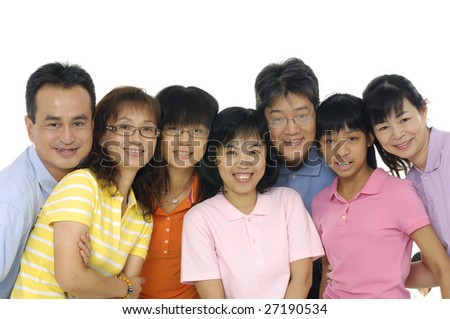 many family with children daughter isolated