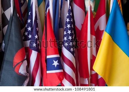 Many Flags - stock photo
