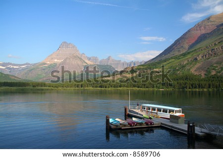 Many Glacier, Glacier National Park, USA - stock photo
