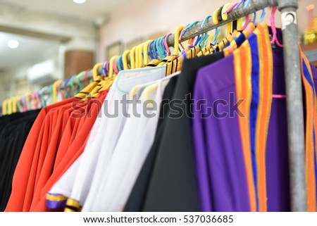 Many graduation dress for Thai students