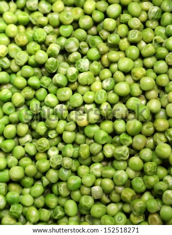many green peas as background - stock photo