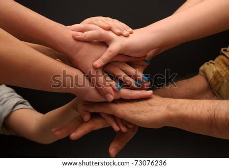 Many hands - stock photo