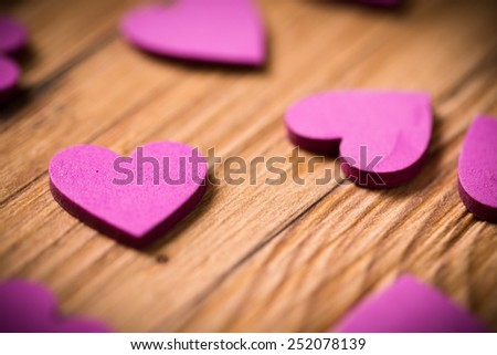 many hearts as decoration - stock photo