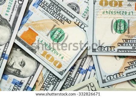 Many hundred dollars cash money as background - stock photo