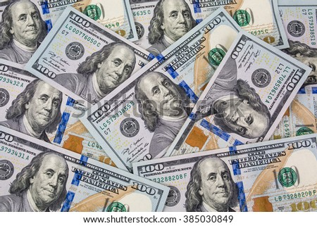 Many hundred dollars cash money, background - stock photo