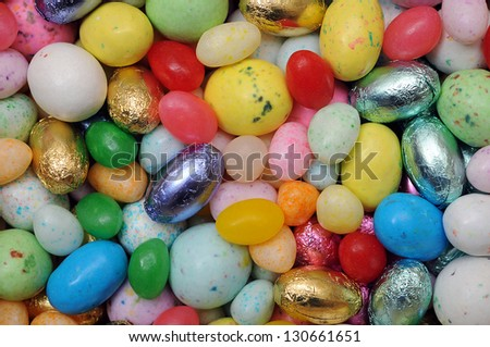 many kind of egg candy for background use