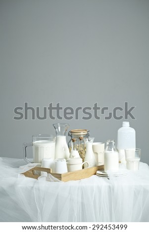 many kind of milk in bottles
