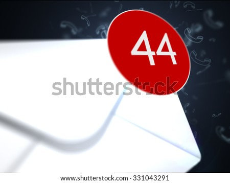 Many letters in the box - stock photo