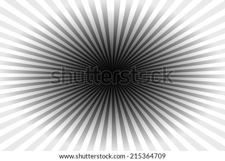 many lines converging into a central point in black and white - stock photo