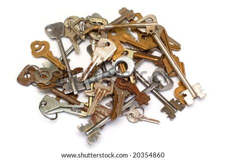 Many many keys - stock photo