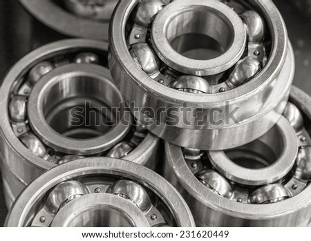 Many new discs for the car - stock photo
