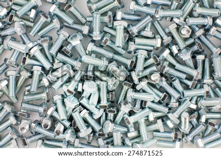 many of bolt size 6 mm x 1 inch for background textures - stock photo