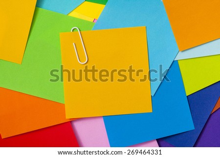Many of colorful notes
