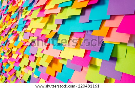 Many of colorful stickers  - stock photo