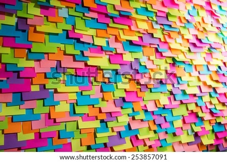 Many of colorful stickers, abstract background - stock photo